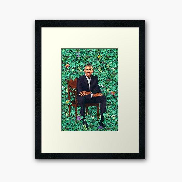 Obama Portrait Framed Art Print