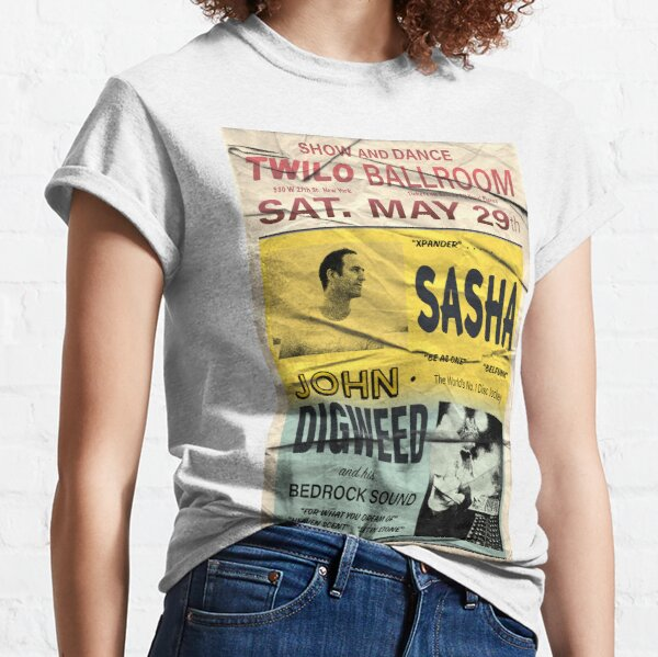 Sasha and John Digweed Twilo Retro Poster Classic T-Shirt