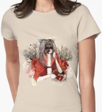 My Little Red Riding Hood.... Womens Fitted T-Shirt