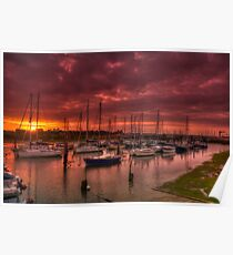 River Yar Sunset Poster