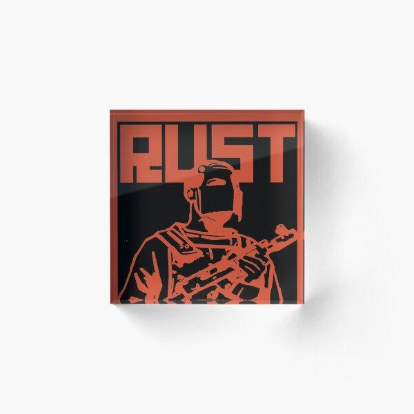 Rust - Rated R Acrylic Block