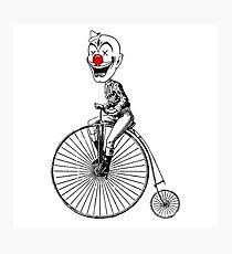 clown on a bike Photographic Print