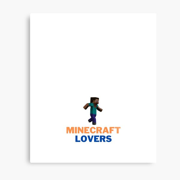 Minecraft Game Lovers Metal Print