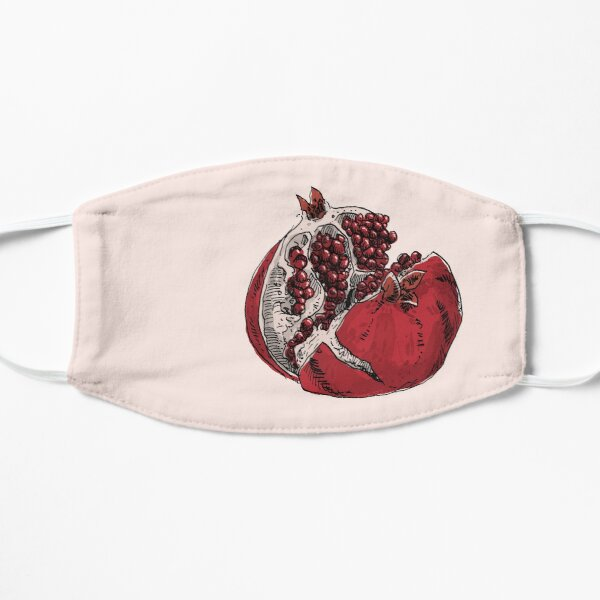 pomegranate drawing Flat Mask