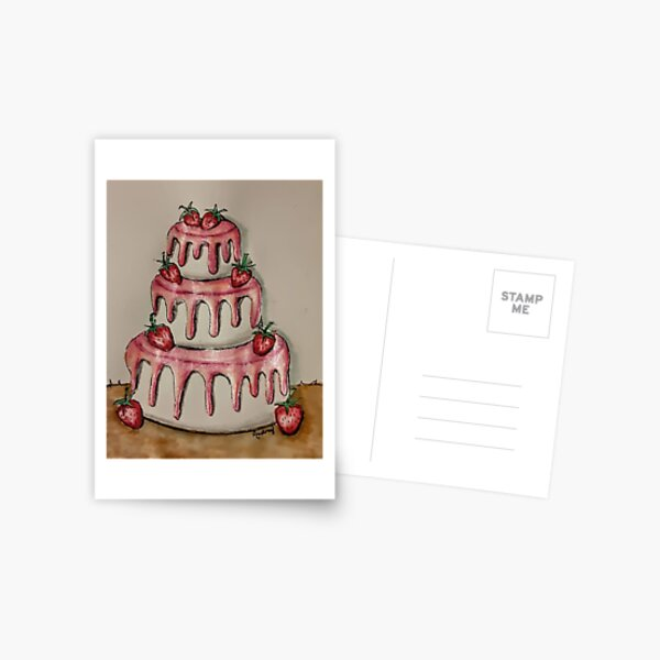 Strawberry Cake Postcard