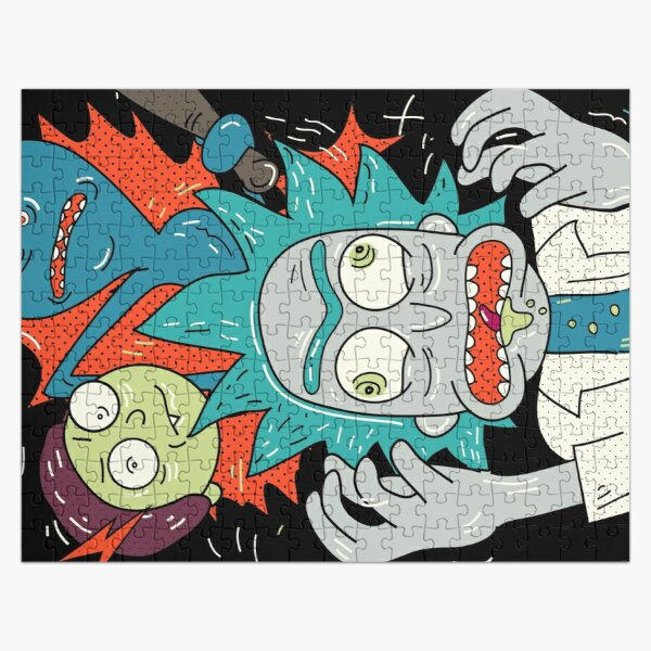 Rick and Morty. Crew from Hell.  Jigsaw Puzzle