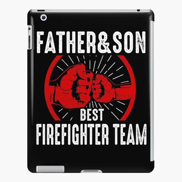Father and Son Firefighter Team Fireman Dad iPad Snap Case