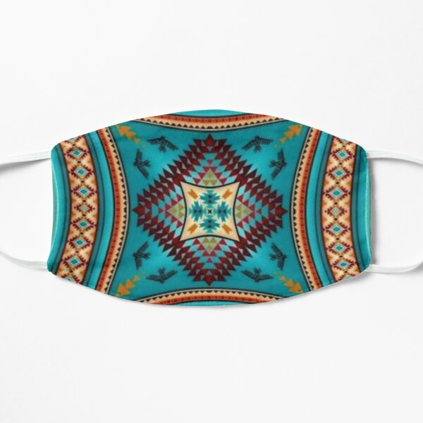 Turquoise Pattern Native American Style Mask