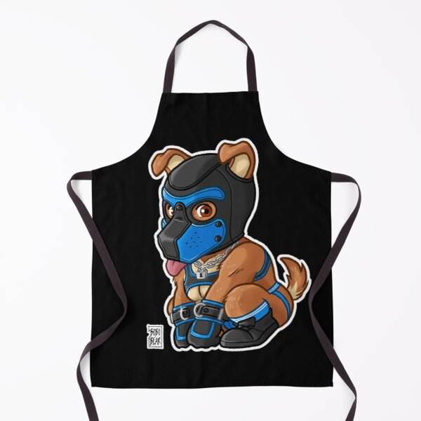 PLAYFUL PUPPY - BLUE MASK - BEARZOO SERIES Apron
