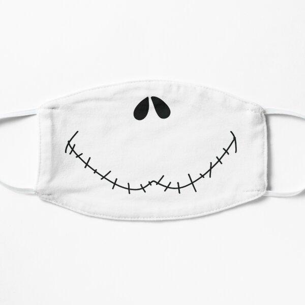 Sonrisa calavérica Mascarilla plana