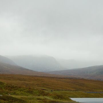 Misty Morn on the Scottish Hills by Photograph2u