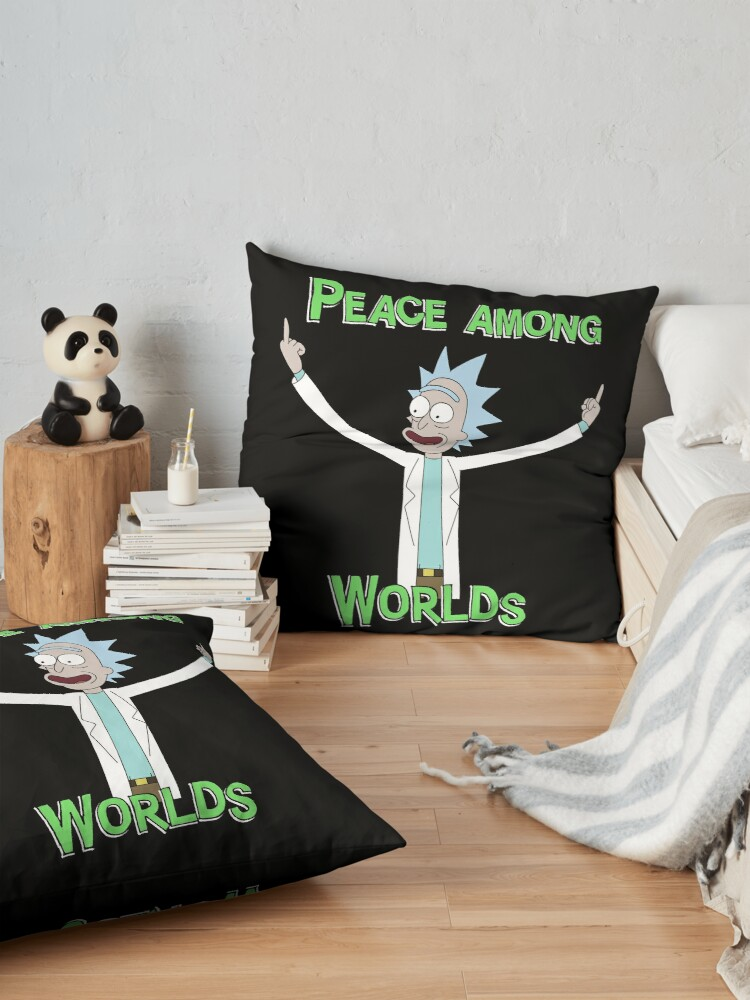 Alternate view of Peace Among Worlds! Floor Pillow