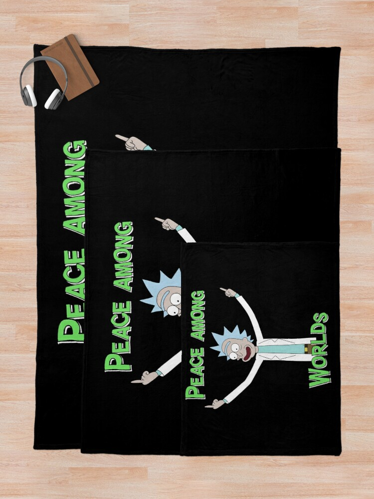 Alternate view of Peace Among Worlds! Throw Blanket