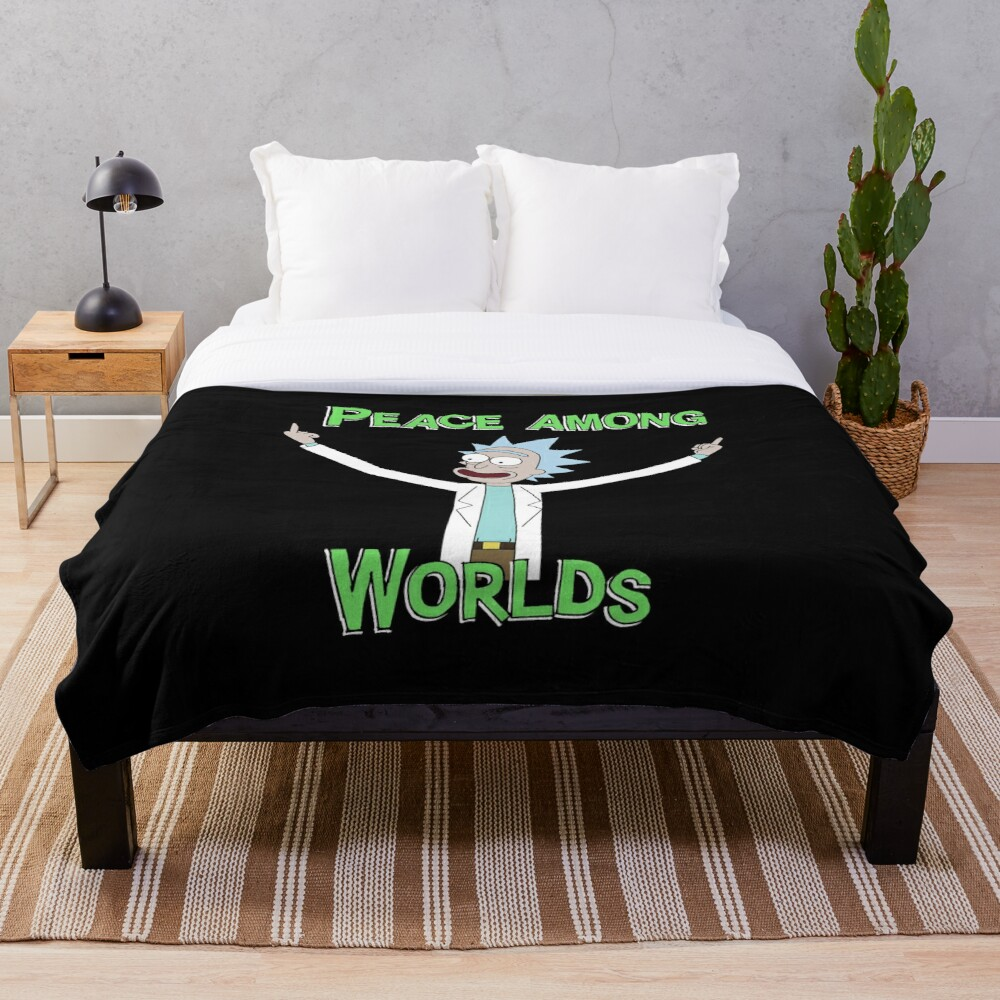 Peace Among Worlds! Throw Blanket