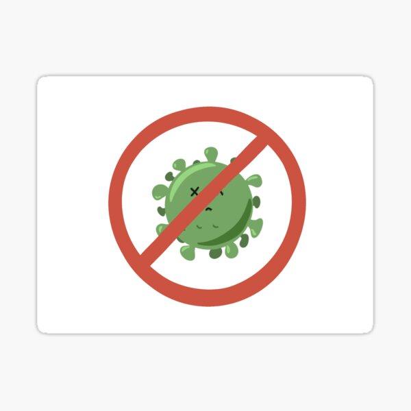Libre de virus Pegatina