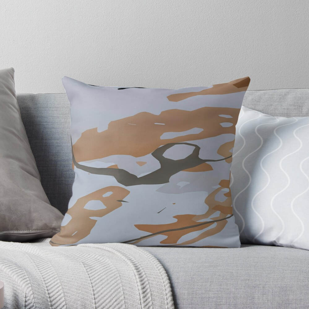 Abstract  patterns, decorative,  random colorful geometric design. Camouflage. Throw Pillow