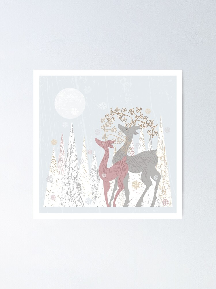 Alternate view of Couple of Deer Poster
