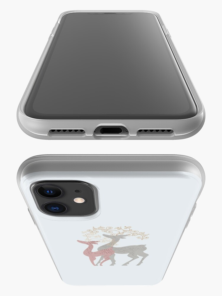 Alternate view of Couple of Deer iPhone Case & Cover