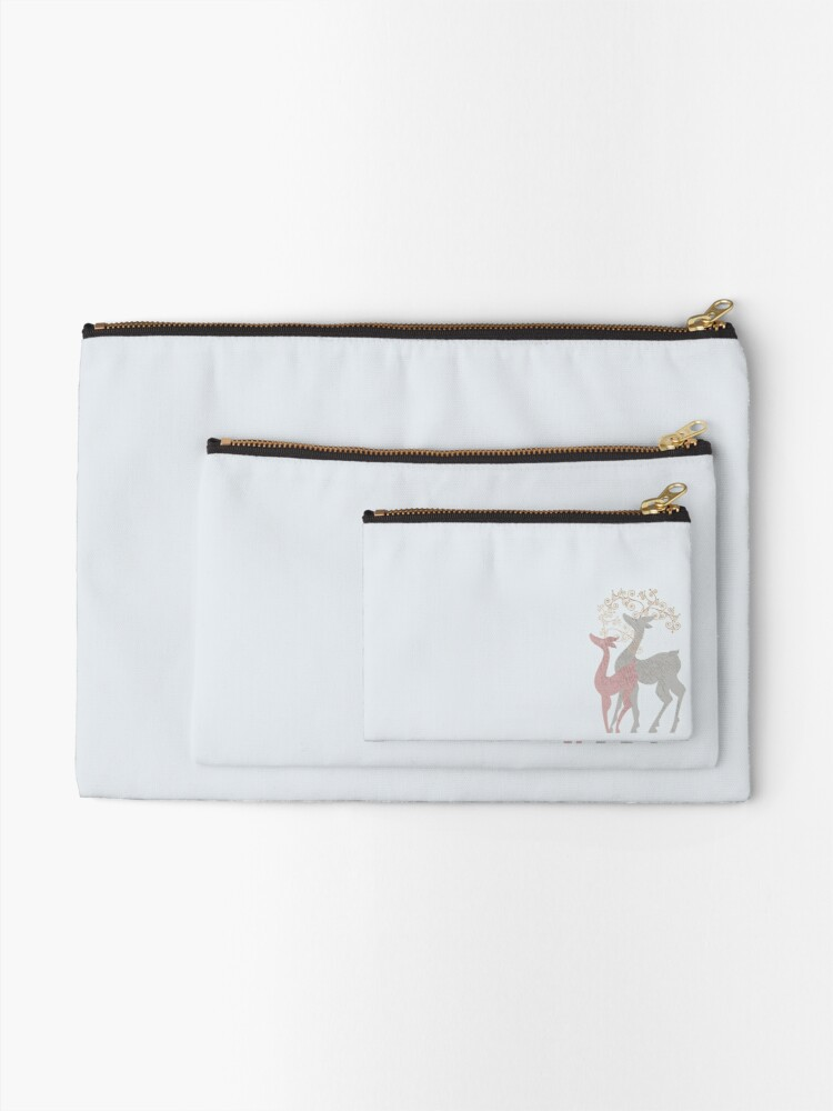 Alternate view of Couple of Deer Zipper Pouch