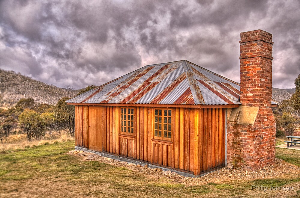 Sawyers Hill Hut - Snowy Mountains Hwy - Snowy Mountains National Park NSW - The HDR Experience by Philip Johnson