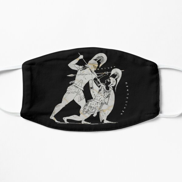 Achilles kills Penthesilea, Queen of the Amazons (4) Flat Mask