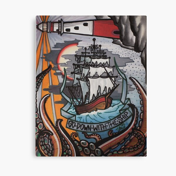 go down with the ship. Canvas Print