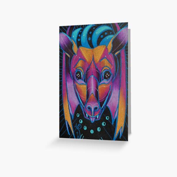 night bat totem. Greeting Card
