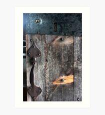 Door Latch and Keyhole Art Print