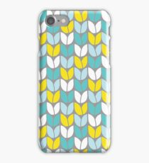 Tulip Knit (Aqua Gray Yellow) iPhone 7 Case