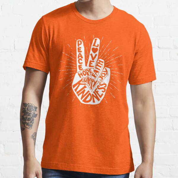 Anti Bullying Be Kind Peace Hand Sign Gift, Unity Day Orange  Essential T-Shirt