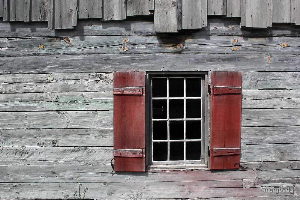 Fort Michilimackinac Window 1 Red by marybedy
