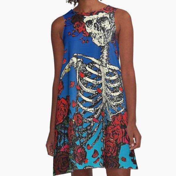 Skeleton Roses A-Line Dress