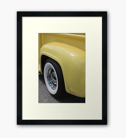 Yellow Cream Framed Print