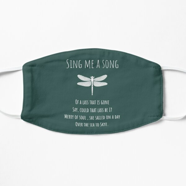 Sing Me A Song - fondo verde azulado oscuro Mascarilla plana