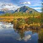 Fall Colors of Vermilion Lakes by James Anderson
