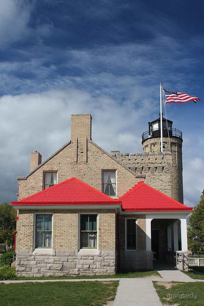 Old Mackinac Lighthouse Point Front 2 by marybedy