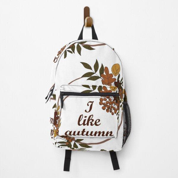 autumn border - I love autumn Backpack