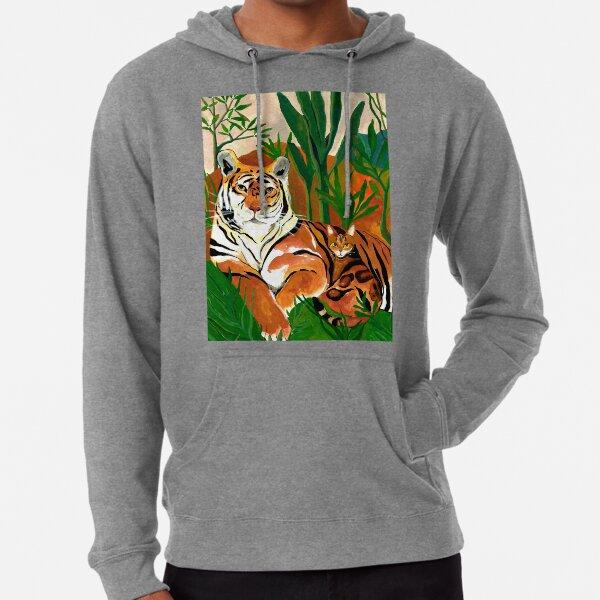 Tiger Cat Jungle Leichter Hoodie