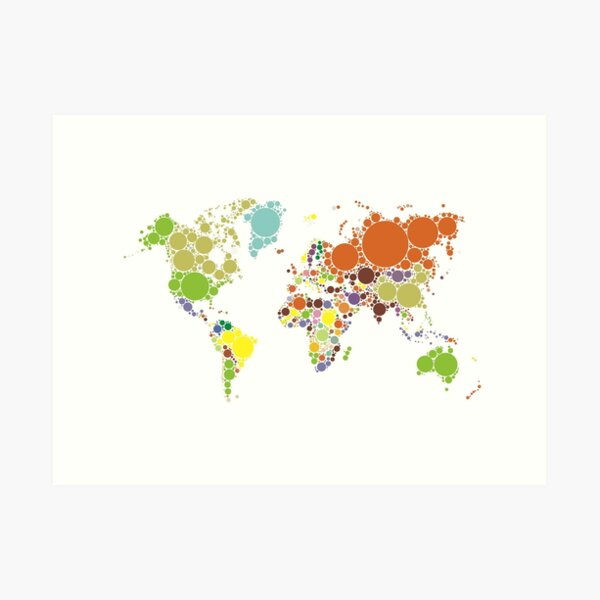 The World Goes Round & Round Art Print