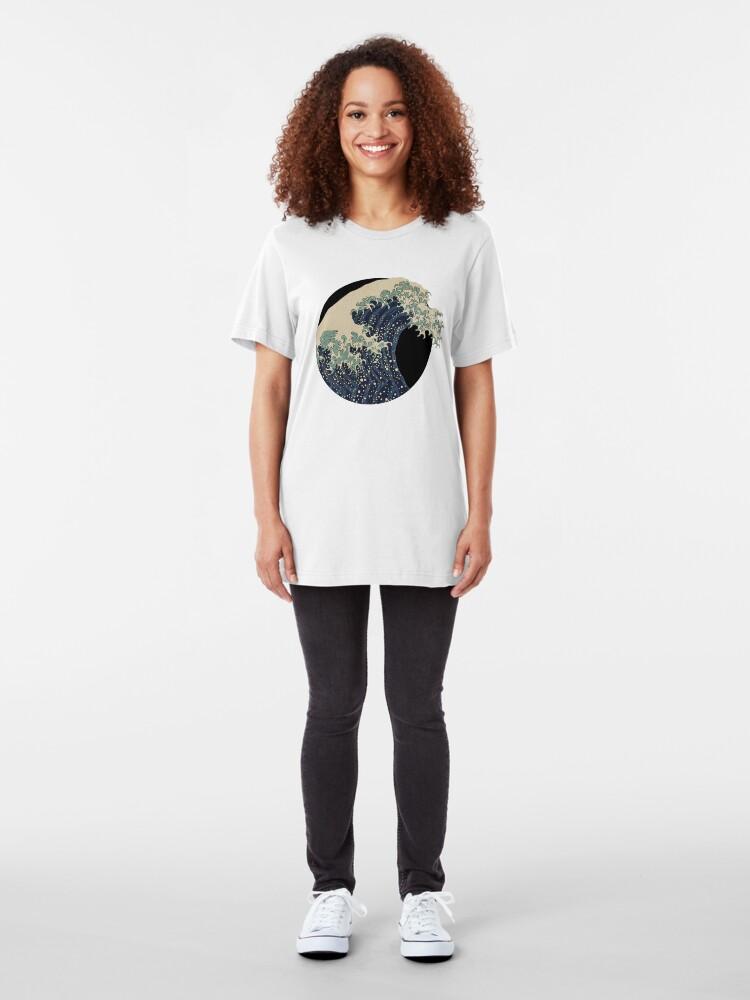 Alternative Ansicht von Die große Welle Slim Fit T-Shirt