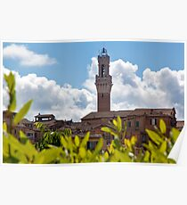 Siena Bell Tower Poster