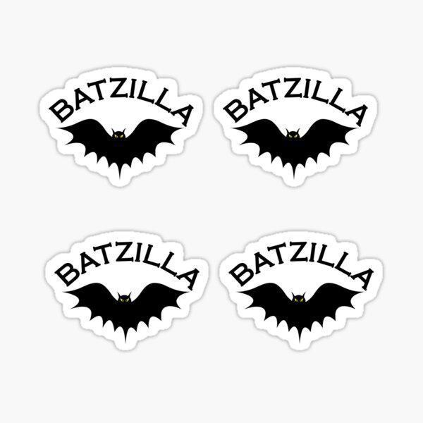 Batzilla over a cityscape Sticker