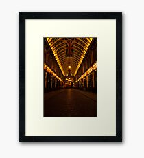 Leadenhall on night Framed Print
