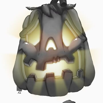 Pumpkin Tooth (gray&color) by elbudeishon