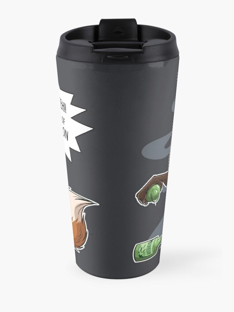 Alternate view of Out of Motivation (lighter swirls) Travel Mug