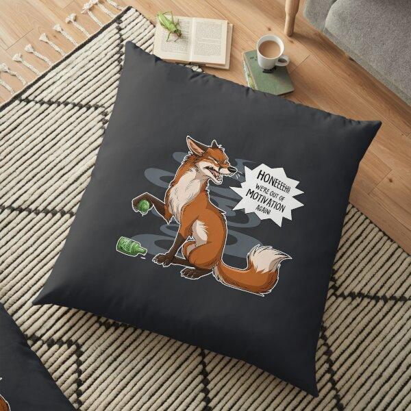 Out of Motivation (lighter swirls) Floor Pillow