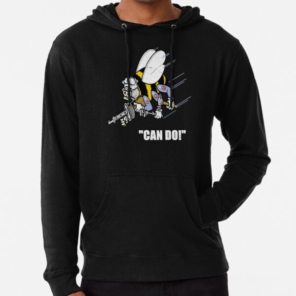 Seabees Can Do We Build We Fight Lightweight Hoodie