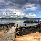 Inchcolm Pier by Tom Gomez