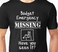 Budget Emergency! (Darker version) Unisex T-Shirt