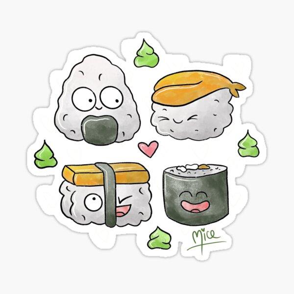 Happy Sushi Sticker